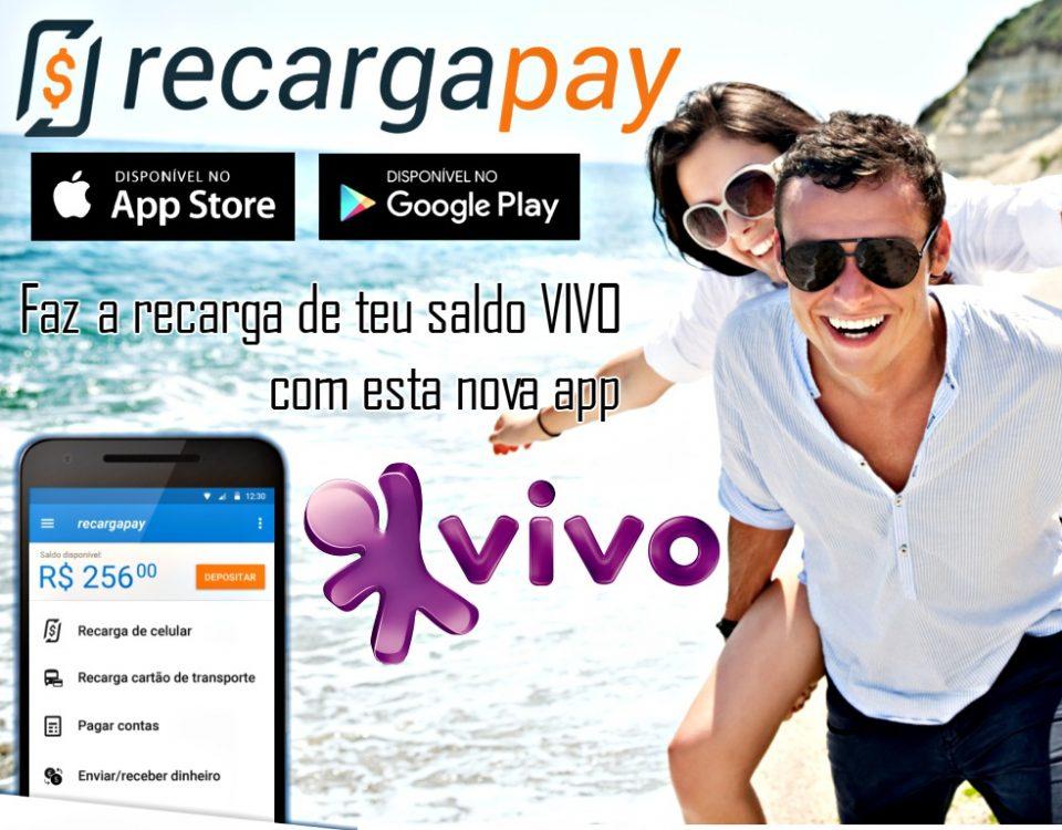 Fazer recarga de saldo de VIVO com a nova app