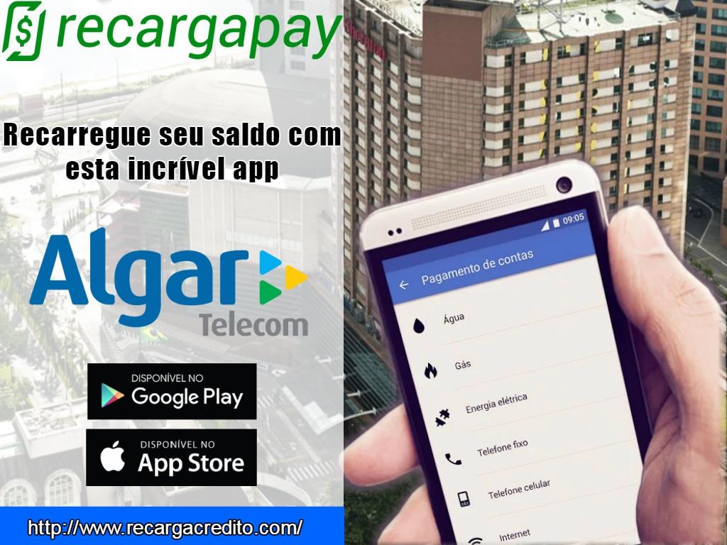 Incrível app para fazer a recarga online Algar Telecom