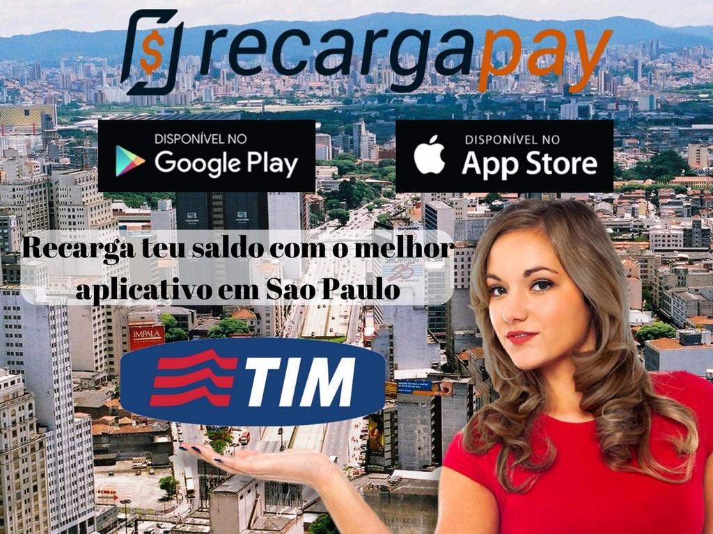 Aplicativo de recarga de celular Tim em São Paulo