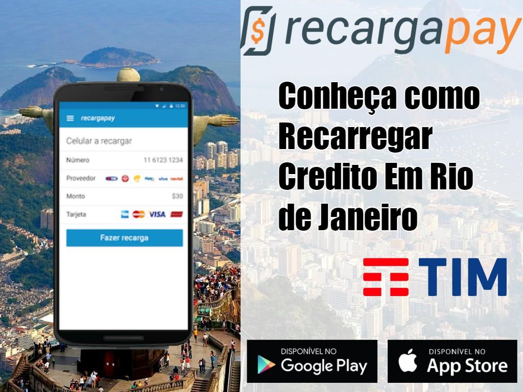 Recarregar o crédito de Tim no Rio de Janeiro
