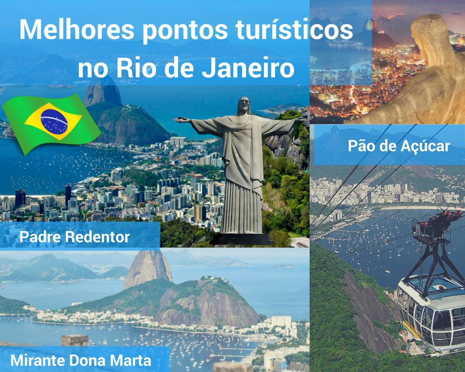 Pontos turisticos no Rio de Janeiro