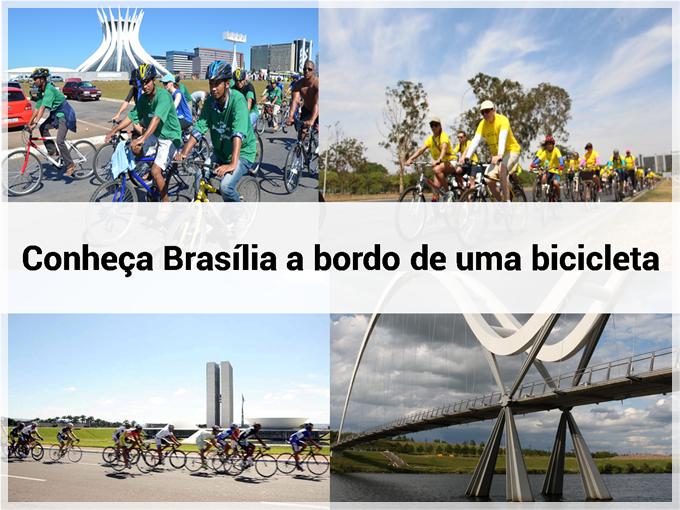 Conheça Brasília a bordo de uma bicicleta