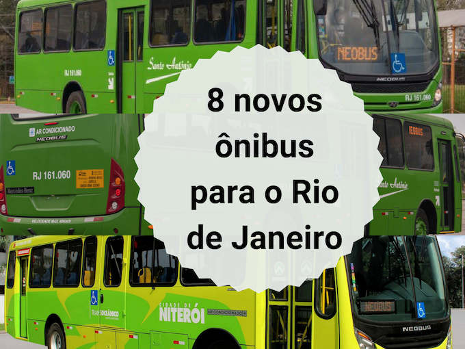 8 novos ônibus para o Rio de Janeiro