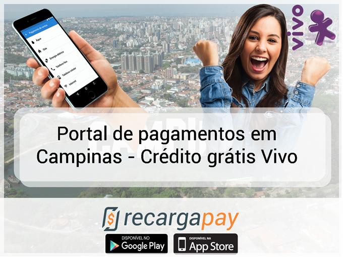 Portal de pagamentos em Campinas - Crédito grátis Vivo