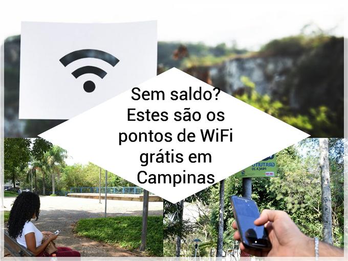 Sem saldo? Estes são os pontos de WiFi grátis em Campinas