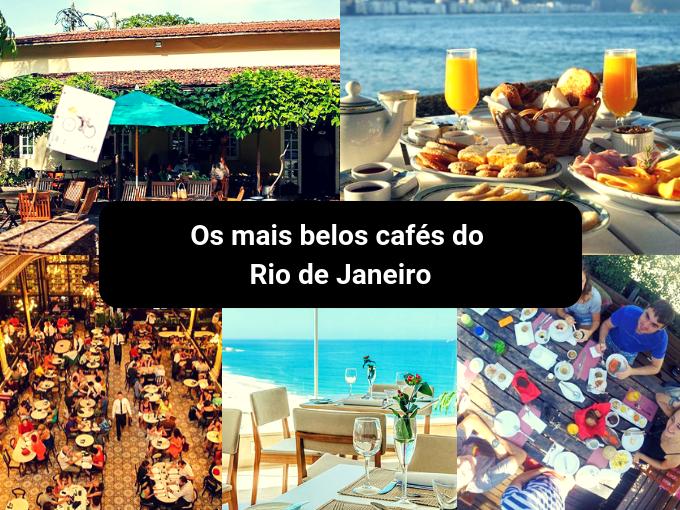 Rio de Janeiro tem belos cafés com vista para o mar