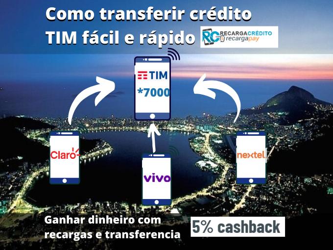 Como transferir crédito TIM