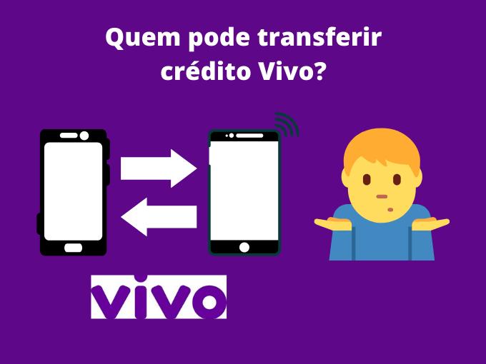 Quem pode transferir crédito Vivo_