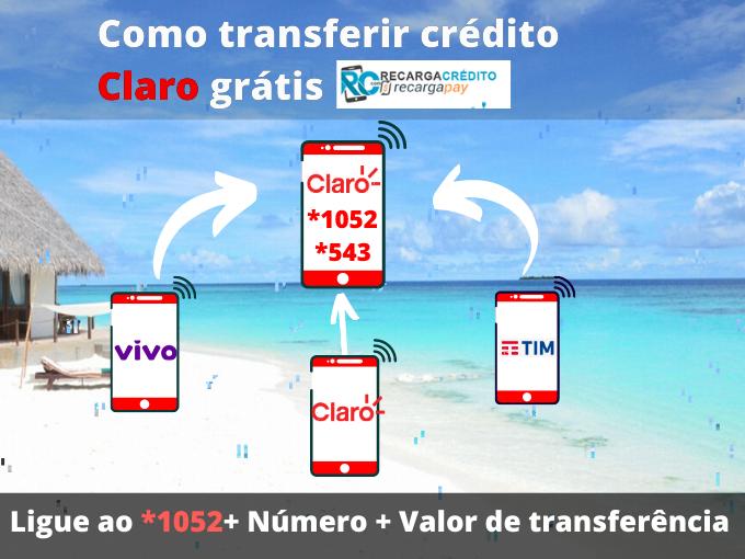 Como transferir crédito Claro grátis