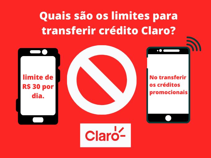 Quais são os limites para transferir crédito Claro