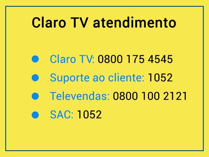 atendimento tv claro
